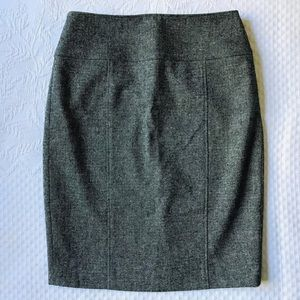 NWT SAKS Fifth Ave Pencil Skirt Size 2 Black Grey